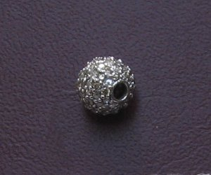 5mm gold bead 14k studded diamond