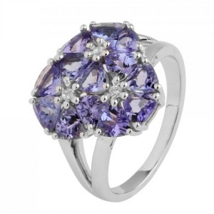 White Gold Ring With Tanzanite
