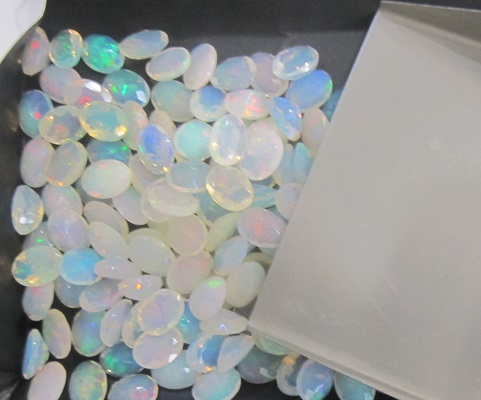 8x6 Ethiopian opal faceted oval