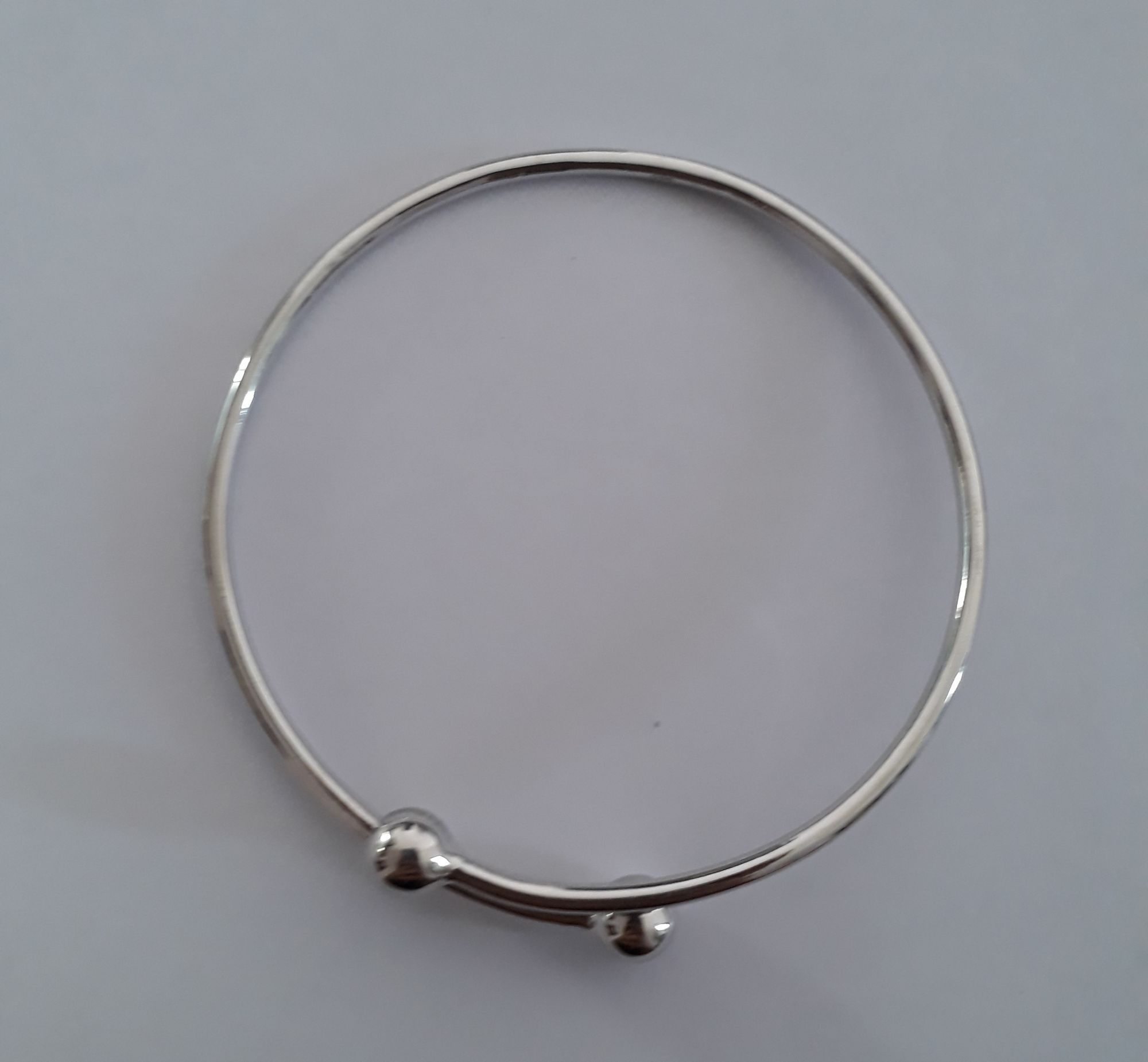 925 silver bangle adjustable gold plated