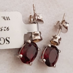 Garnet citrine earrings stud