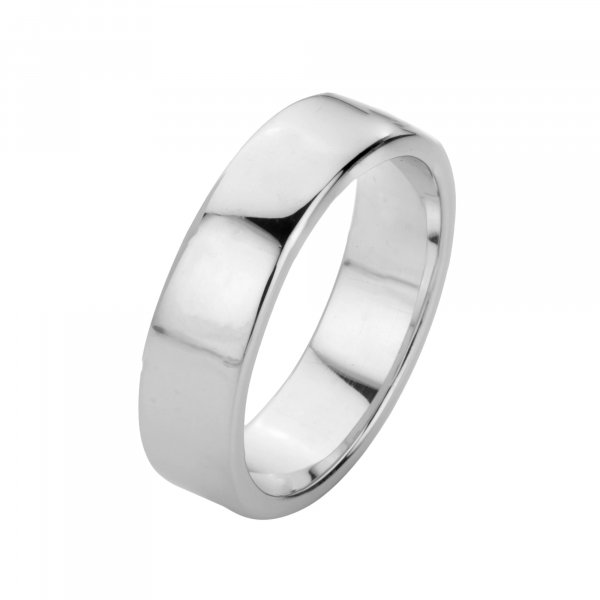Pure 925 silver engagement band