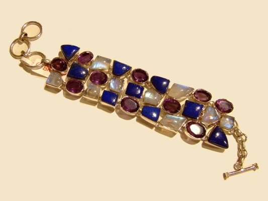 Fancy gemstone bracelet