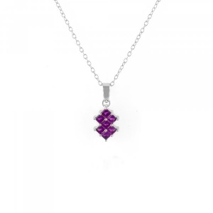 Amethyst square 925 sterling silver