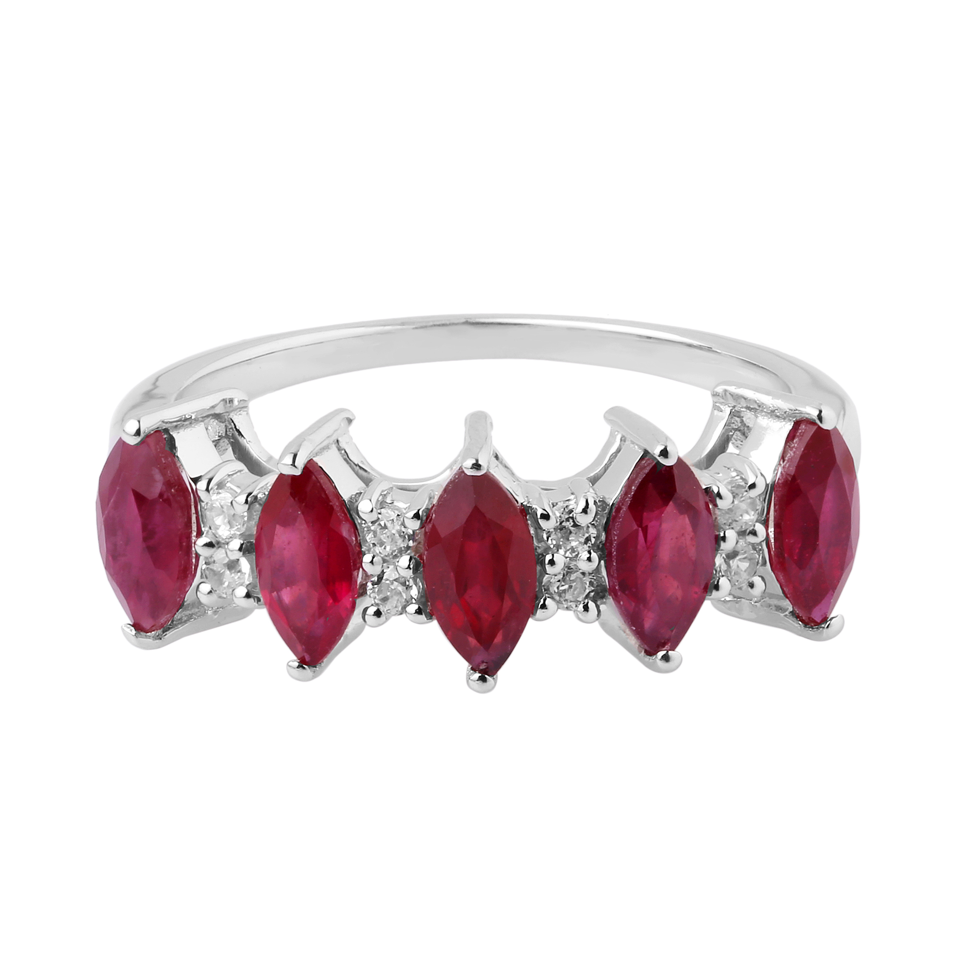 Ruby topaz Sterling Silver Rings