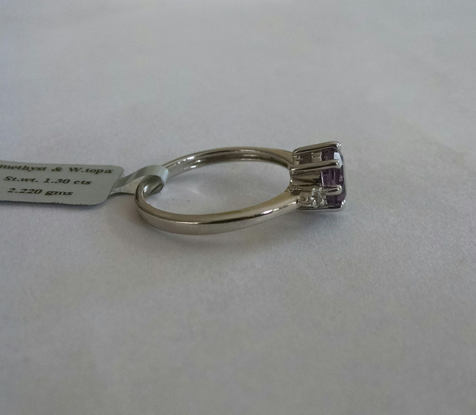 Amethyst solitaire Silver Ring