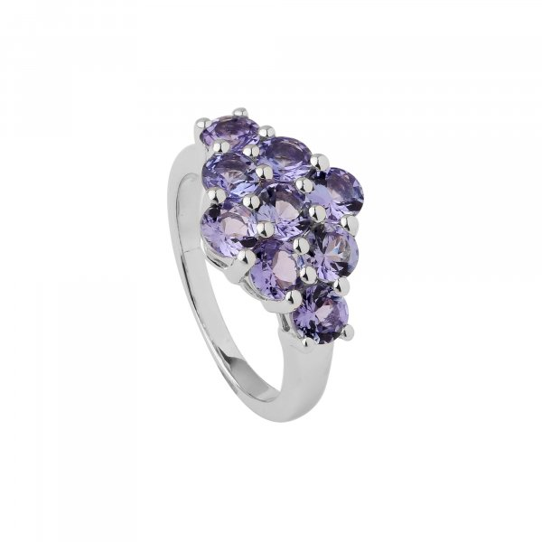 Tanzanite 4mm rd Ring