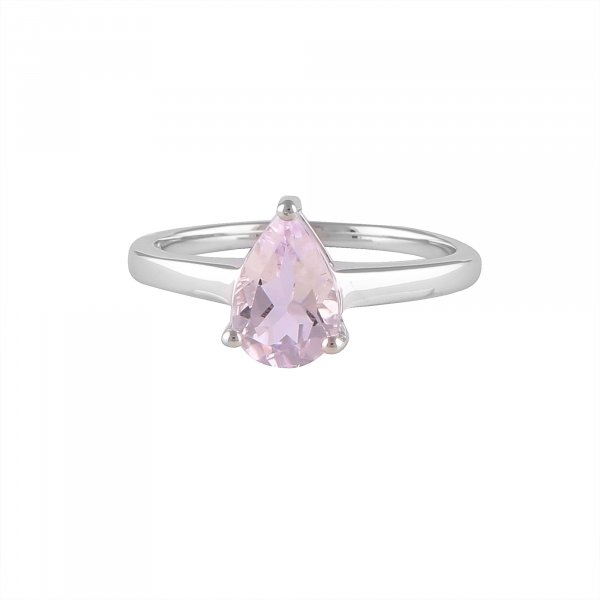 Pink Amethyst 1ct Silver Ring