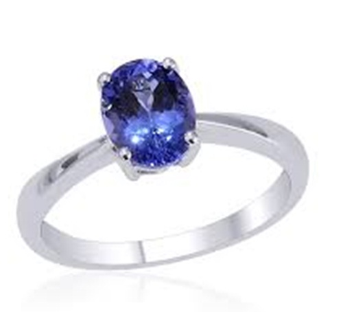 Blue sapphire Oval ring