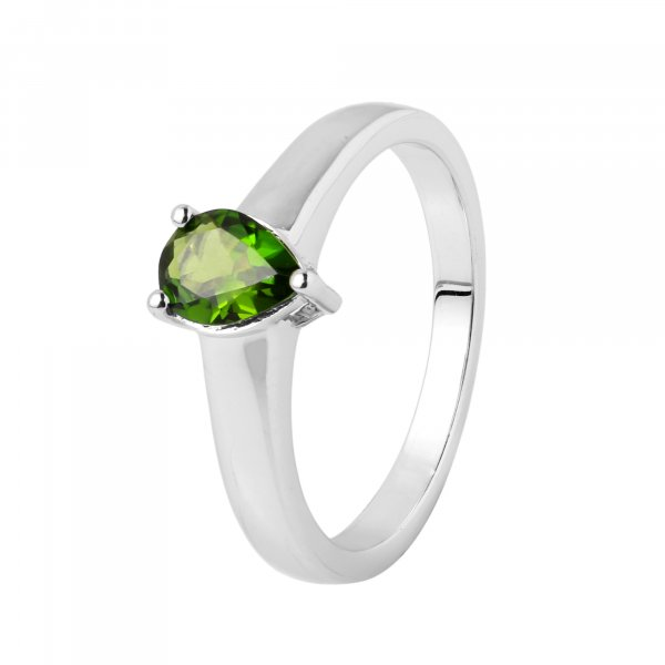 Chrome diopside Pear ring