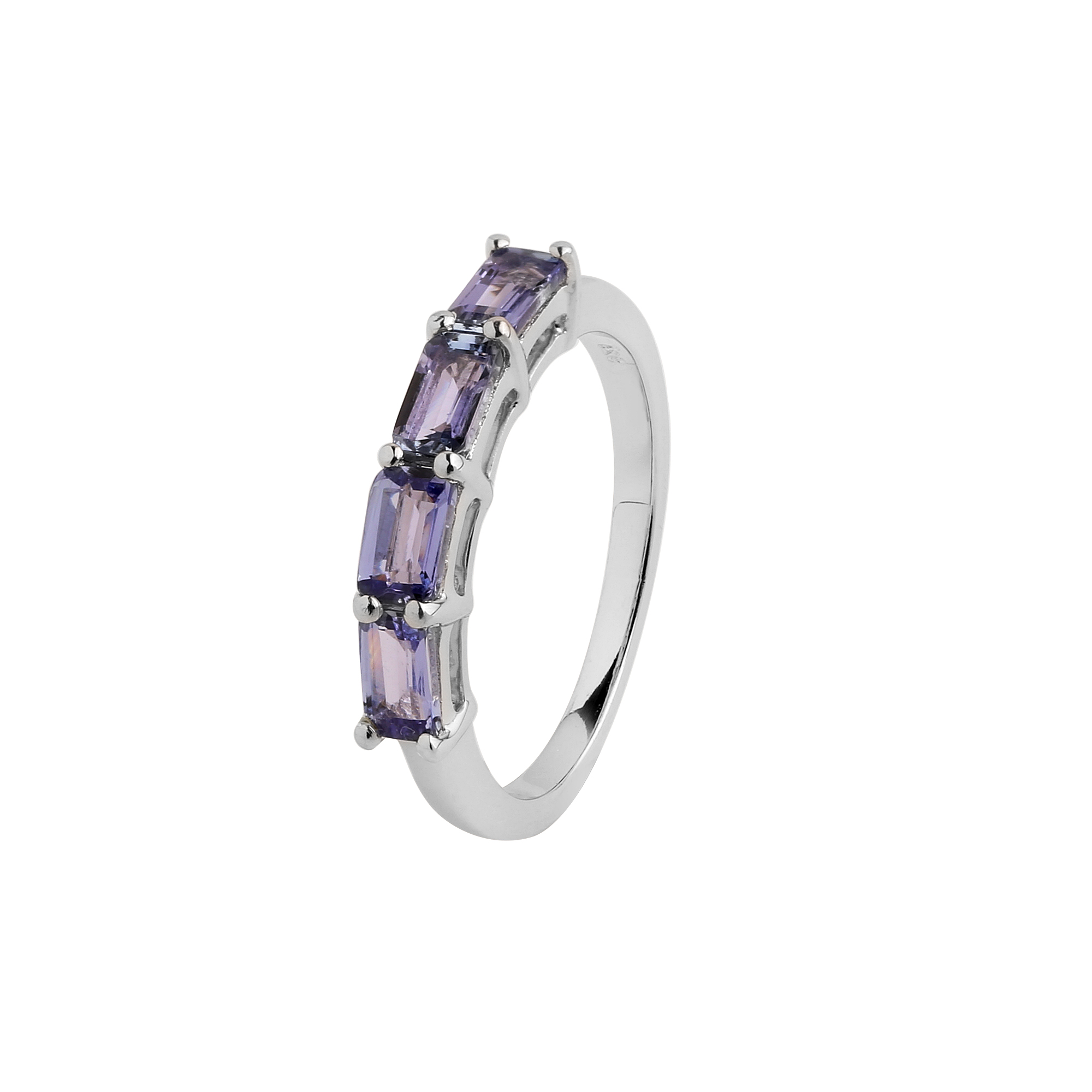 Tanzanite stacking band