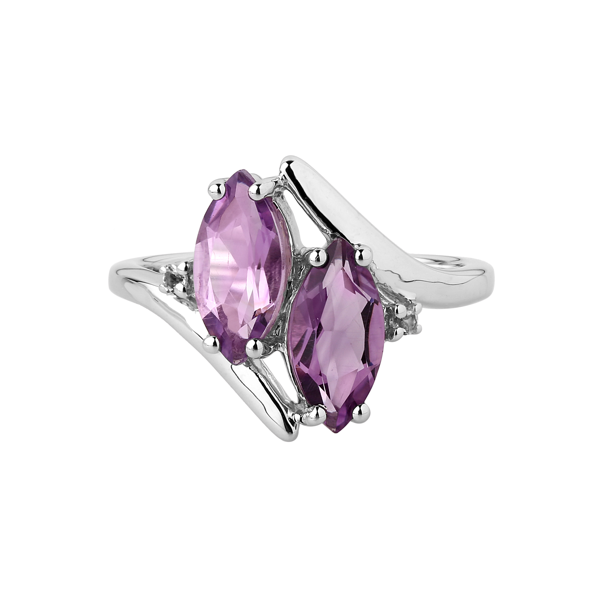 Amethyst marquise ring
