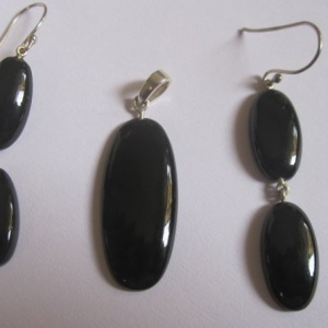 Black Onyx earring pendant set