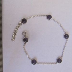 6mm Amethyst light weight bracelet