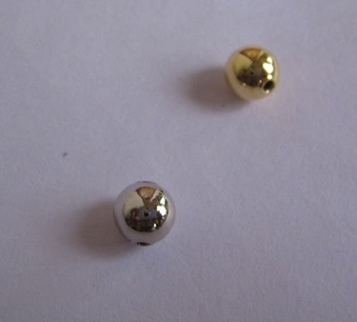 6MM Plain round gold beads