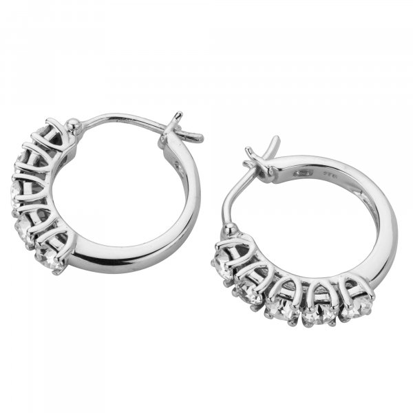 Genuine Swarovski 925 silver Women's Earrings Hoops