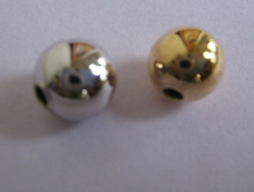 8MM Plain gold beads