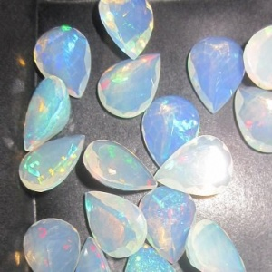 9x12 Ethiopian opal pear faceted