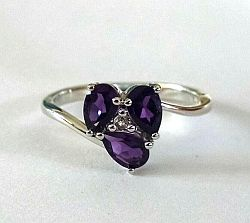 Amethyst trilogy ring