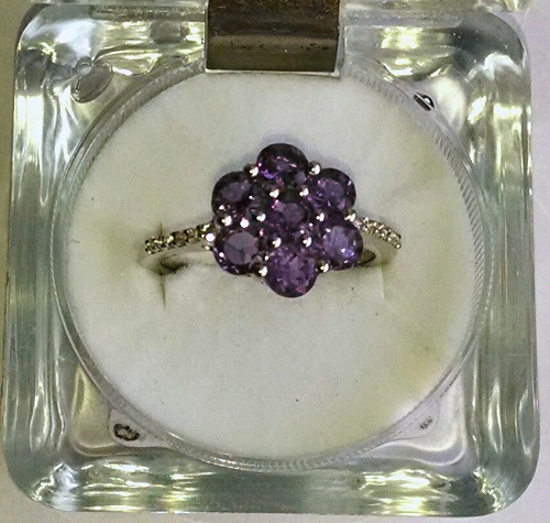 Amethyst-white topaz Ring
