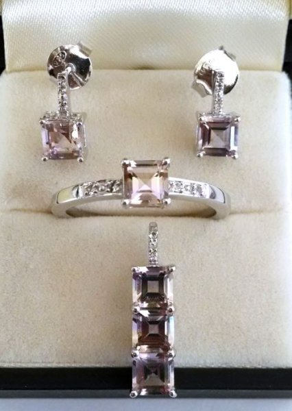 Ametrine white topaz light weight set