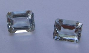 Aquamarine octagon cut stone