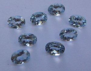 Aquamarine oval cut stone