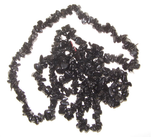 Black onyx chip gem beads