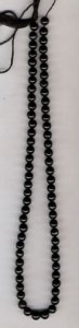Black Onyx plain rd. gem beads