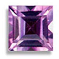 Brazilian Amethyst sq. cut  gem stone