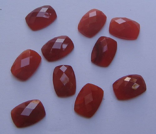 Carnelian cushion rose cut