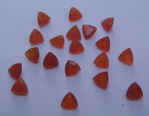 Carnelian trillion cut