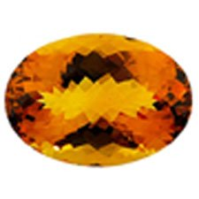 Citrine ( Dark ) oval faceted stone