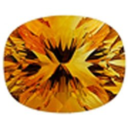 Citrine concave cushion cut