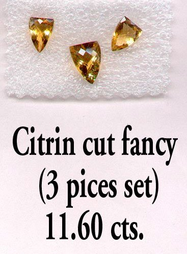 Citrine Fancy Cut Stone