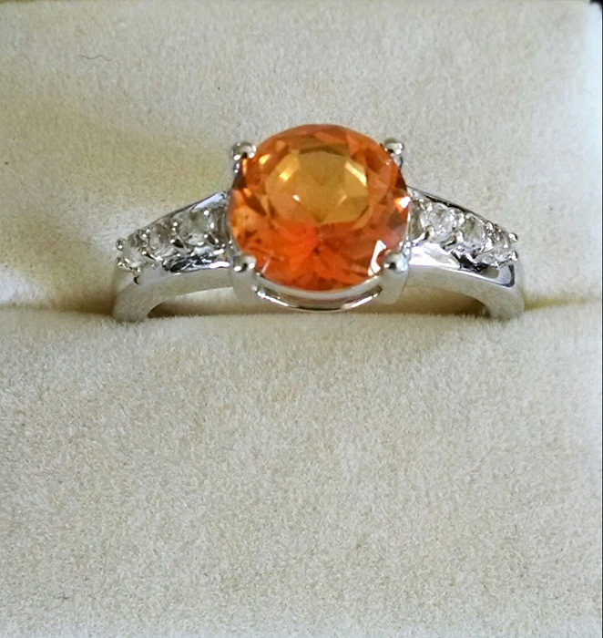 Citrine Round Solitaire Ring