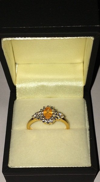 Citrine White Topaz Ring