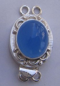 Clasp With Blue Chelcedony