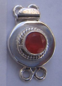 Clasp With Carnelian