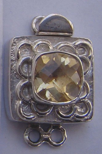 Clasp With Citrine Cushion Checker