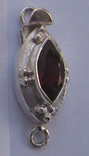 Clasp With Garnet