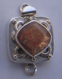 Clasp With Natural Sunstone