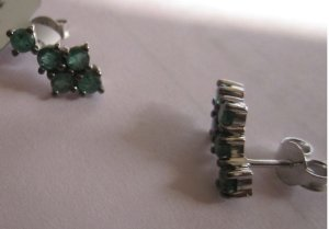Ear Ring With emerald