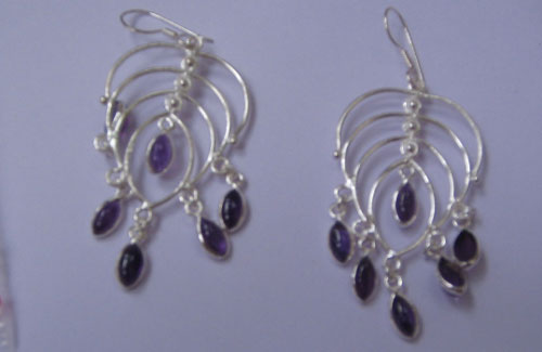 Earring with 8x4 Mq. cabs