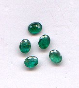 Emerald oval cut 3x4mm