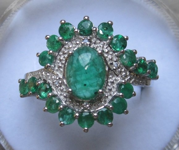 emerald topaz ring