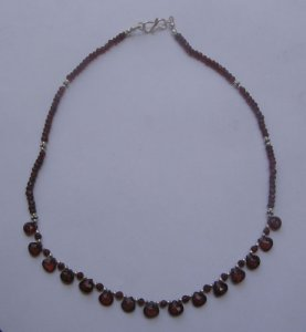 Garnet faceted bead necklace