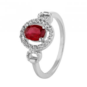 Glass fill ruby ring