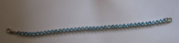 Gold Bracelet With swiss blue topaz