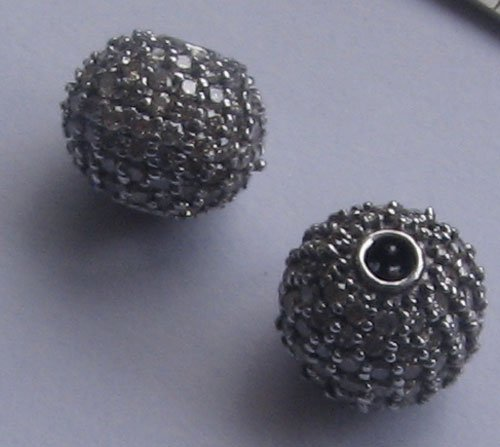 Gold Diamond Beads 10mm